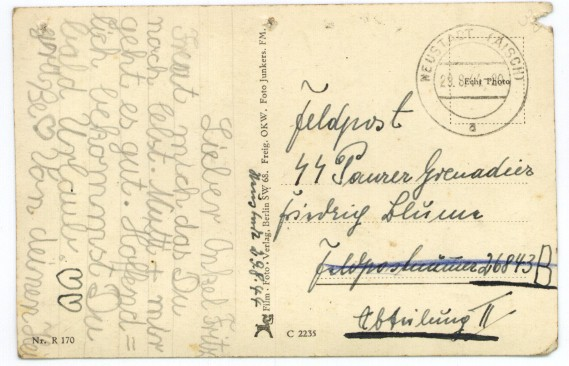 German postcard side 1